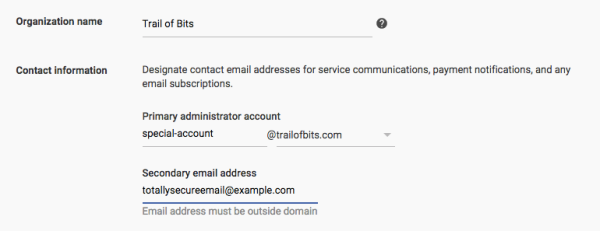 Separate the role for administrative access to your domain