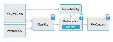 The Hardware Key is stored in the Secure Enclave in A7 and newer devices
